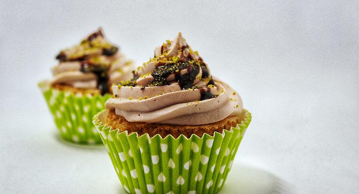 Cupcake al cuore di pistacchio e fondente