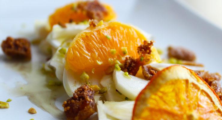 Insalata di finocchi, arance e fichi secchi