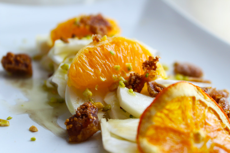 Insalata di finocchi, arance e semi di chia