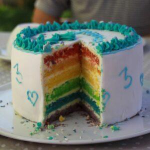 Rainbow cake vegana