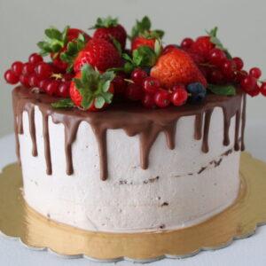 Drip cake vegan compleanno